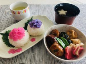 紫陽花寿司と炊き合わせ